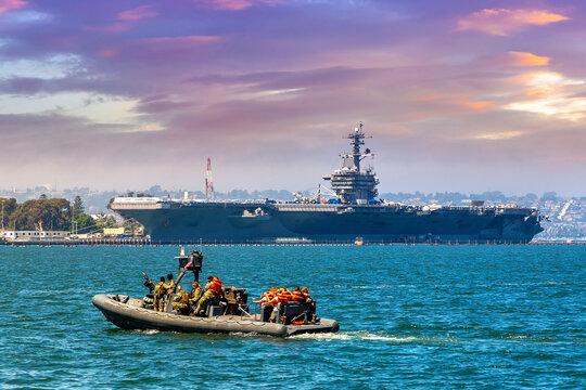 US Naval Base navy guard boat