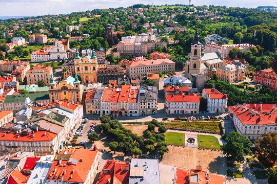 Aerial view of Przemysl city in Poland