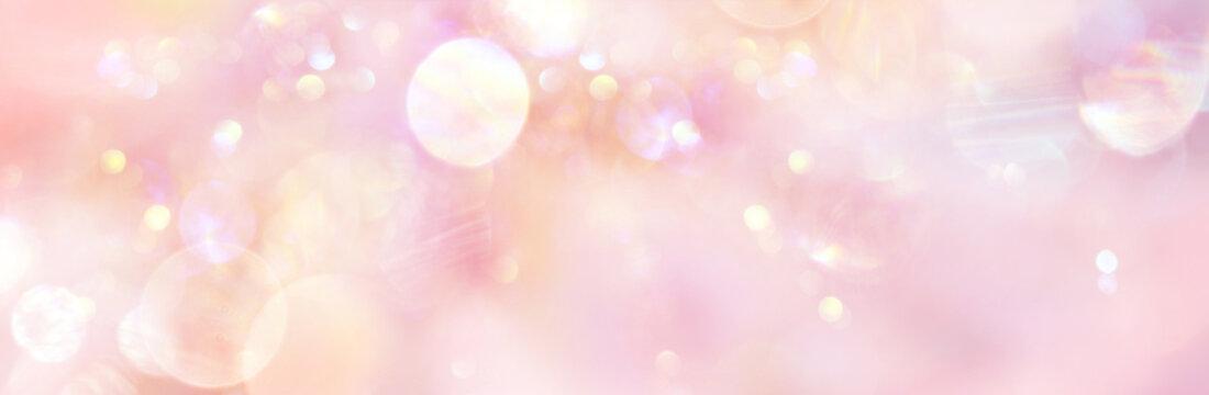Banner sanftes rosefarbenes Licht mit viel Freiraum für  Text und Design, illustriert liebevolle Energie, die Essenz des Seins