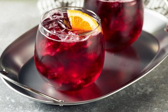 Boozy Refreshing Cold Red Wine Spritzer