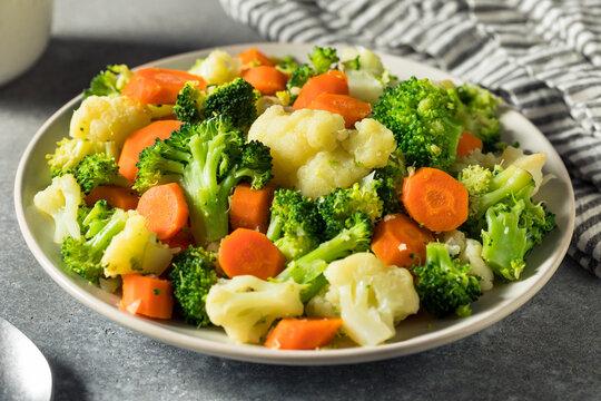 Healthy Organic Steamed Vegetables