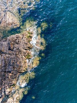 Water crashing on the rocks