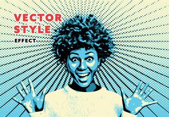 Fototapeta Vector Style Effect obraz