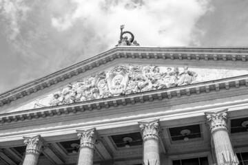 Obraz Facade of the Ternopil Taras Shevchenko Music and Drama Theater - fototapety do salonu