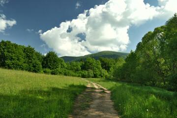 U stóp zielonych gór.
