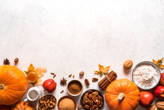 Autumn fall baking background