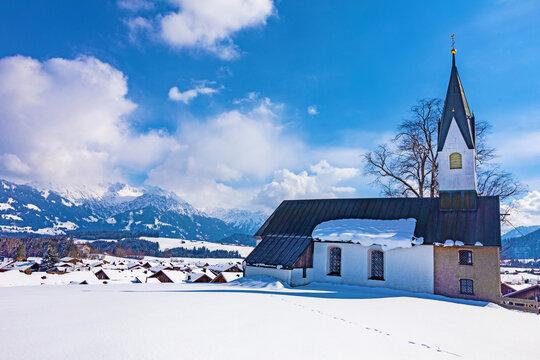 Bolsterlang - Allgäu - Kapelle - Kirche - Winter