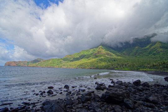 plage de Aakapa - nuku hiva - iles marquises - polynesie francaise