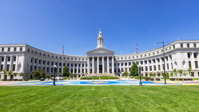 Denver's neoclassical City and County Building opened in 1932.