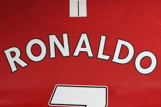 The Name of Cristiano Ronaldo Nameon Manchester United  Jersey