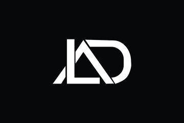 Obraz LAD Letter Logo Design. Creative Modern L A D  Letters icon vector Illustration. - fototapety do salonu