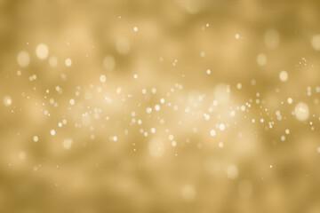 golden shiny christmas bokeh on blurred background