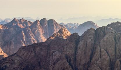 Saint Catherine mountain range in Egypt