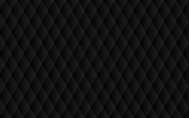 Obraz 高級感のあるブラックの抽象背景、ダイヤ柄、ベクター素材 - fototapety do salonu