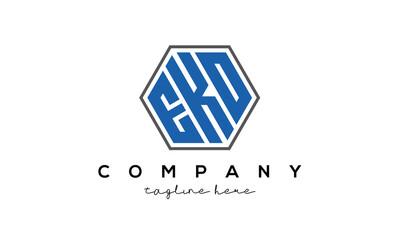 letters EKO creative polygon logo victor template
