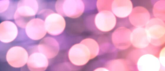 イルミネーション風ぼかし背景)紫 バナー 光 パーティ ボケライト グラデーション クリスマス