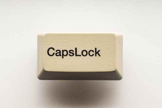 Caps Lock button  from computer keyboard