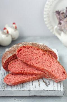 Italian bread bread sliced on a board