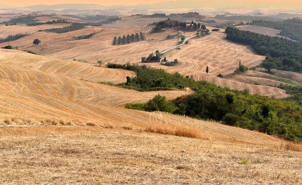 Hügelige Weite der Crete Senesi