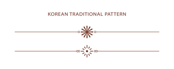 Korean traditional line pattern. Asian style. Chinese culture. Abstract graphic illustration. Korea, china symbol
