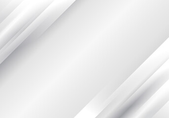 Abstract white and gray diagonal stripes layered background