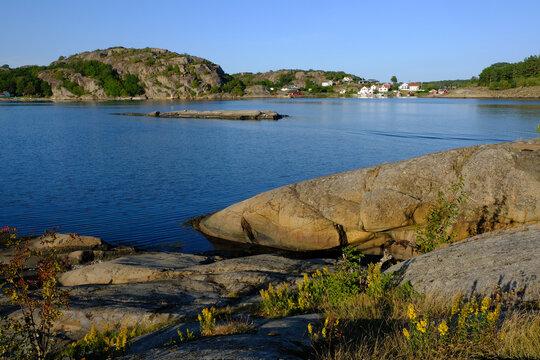 Norwegian coast and islands at sunrise, Havna, near Tonsberg, Norway
