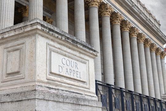 cour d'appel au palais de justice