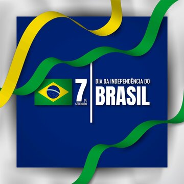 Brazil Independence Day Background Design Template.