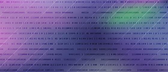 Obraz 0 1 matrix digits big data tech vector background with fluid gra - fototapety do salonu