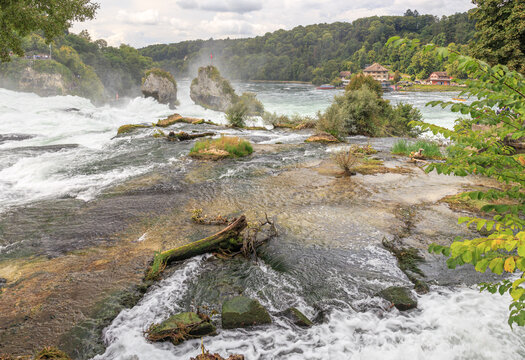 Rhine Falls in Switzerland in Neuhausen near Schaffhausen