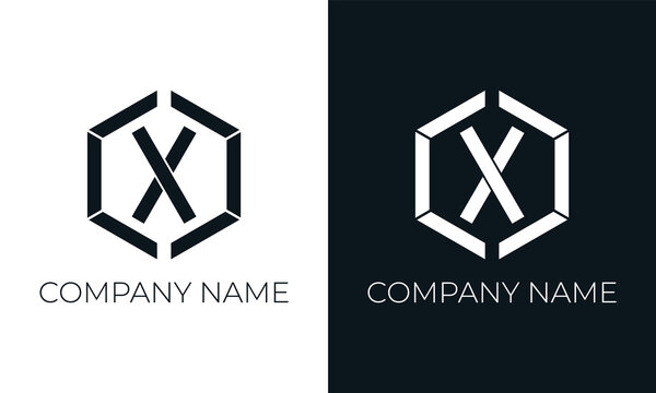Initial letter x logo vector design template. Creative modern trendy x typography and black colors.