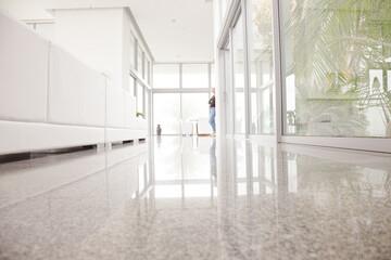 Granite floor in modern house
