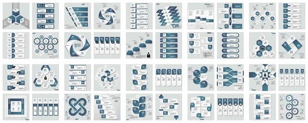 business infographic creative design, Best infographic templates Presentation slides set. Circle diagrams,  Infographic business concept with options, parts, steps or processes. Vector Eps