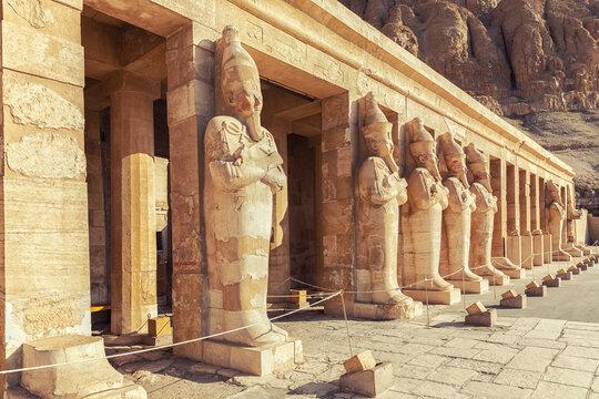 Osiride statues of Hatshepsut Temple, Luxor, Egypt