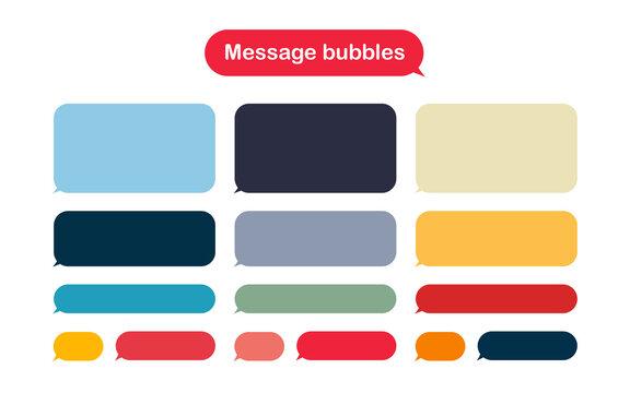 Message bubbles design template for messenger chat.