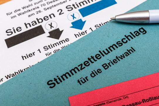 Bundestagswahl 2021 - Wahlschein ankreuzen - Briefwahl