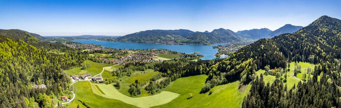 landscape at the lake tegernsee
