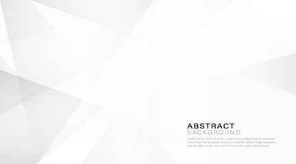Abstract white and gray gradient background. Modern simple geometric pattern creative design with space for your text. Suit for poster, cover, banner, template, flyer, brochure. Vector illustration