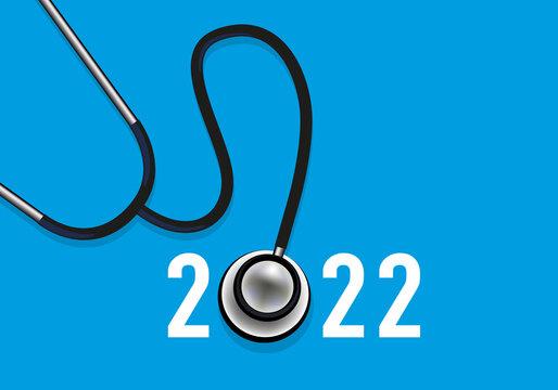 La cardiologie en 2022 avec un stéthoscope pour symboliser le système de santé et les équipes médicales mobilisées contre les maladies cardiovasculaires.