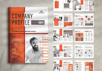 Fototapeta Company Profile Layout obraz