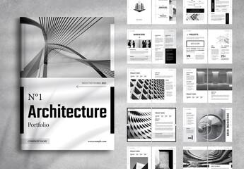 Fototapeta Architecture Portfolio Layout obraz