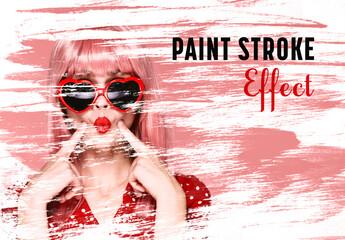 Fototapeta Paint Stroke Effect Mockup obraz