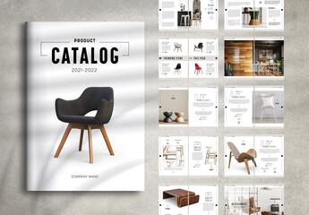Fototapeta Minimal Product Catalog Layout obraz