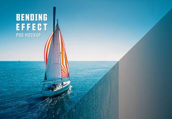 Fototapeta Perspective Bending Effect Mockup obraz