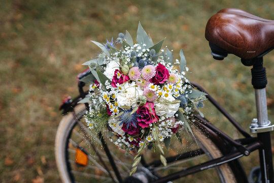 Beautiful wedding bouquet close up
