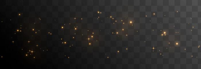 Vector magic glow. Sparkling light, sparkle dust png. Sparkling magical dust. Christmas light.