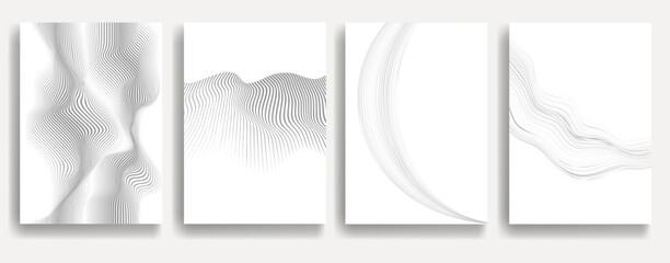 Obraz Abstract Geometric Stripe Pattern. Linear pattern in gray color. Vector. - fototapety do salonu