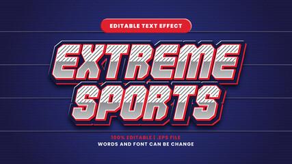 Obraz Extreme sports editable text effect in modern 3d style - fototapety do salonu