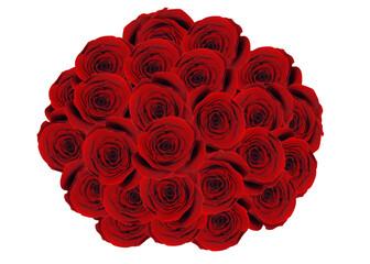 Obraz Duży bukiet z róż - fototapety do salonu