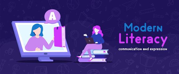 Modern Literacy student online computer class